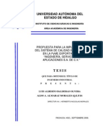 """Propuesta para la implantación del sistema de calidad iso90012000 en la pyme exportadora """"ingeniería, servicios y aplicaciones s.a. de c.v."""""""