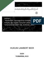 Hukum Lambert Beer