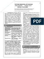 Prefeitura de Caucaia Ce 2009 Edital