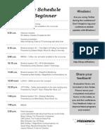 FredSMC - Schedule