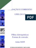 Aulas 04 e 05 - Pilhas eletroquímicas e formas de corrosão