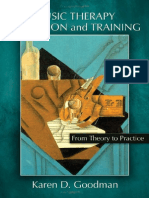 Music Therapy Education and Training From Theory to Practice