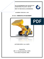 143913277 Kinematics of Machinery Lecturer Notes All 5 Units