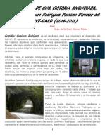 (2)CRÓNICA DE UNA VICTORIA ANUNCIADA, Geraldino Caminero Rodríguez, Próximo Director del CURVE-UASD, 2014-2018