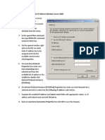 Change Static IP Address Windows Server 2008