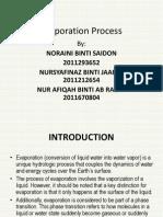 Evaporation Process