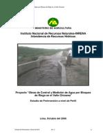Informe Obras de Control y Medicion en El Valle Chicama