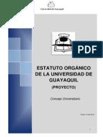Proyecto Estatuto Organico Consejo 12 Enero