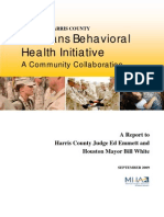 Veterans Behavioral Health Initiative Report September 2009_FORMATTED