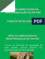 PAPEL DA AGRICULTURA NA INDUSTRIALIZAÇAO DE UM PAIS
