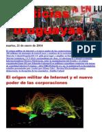 Noticias Uruguayas Martes 21 de Enero Del 2014
