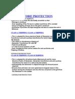 Genartor Protection Class A B C