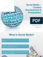 Presentation Social Media, Content Creation and Presentation