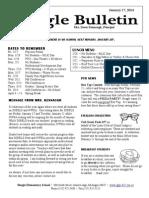 Beagle Elementary School Newsletter January 17, 2014