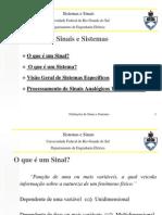 Aula 1 Definições de Sinais e Sistemas