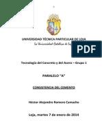 TC_A_Héctor Romero_CONCISTENCIA del cemento