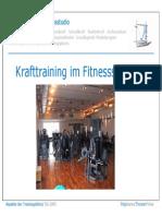 HS Krafttraining Im Fitnessstudio