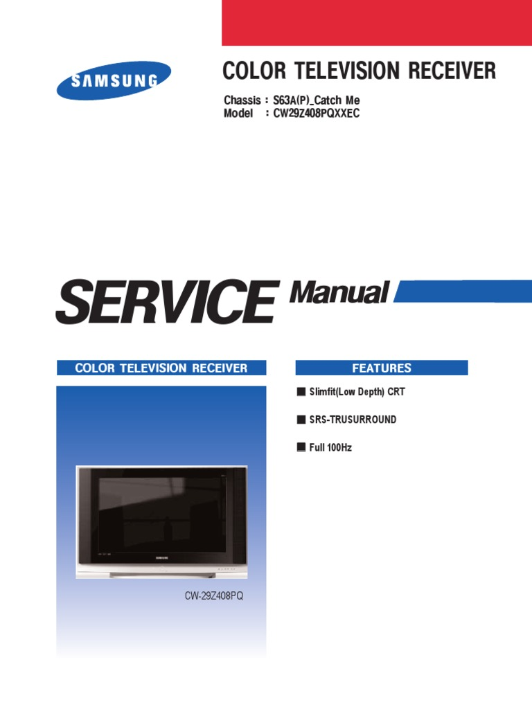 cw29z408pq chassis s63a.pdf | Electrostatic Discharge | Electrical Connector