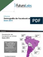 Demografía Facebook - Enero 2014  -  Futuro Labs