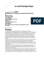 FAO Irrigation and Drainage Paper