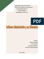 Software Administrativo y Sus Elementos.