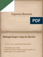 expresia libertatii