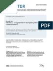 Facebook Communication in European Politics