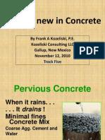 concrete pervious