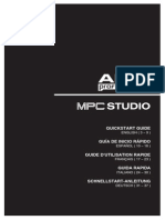 MPC Studio - Quickstart Guide - RevB