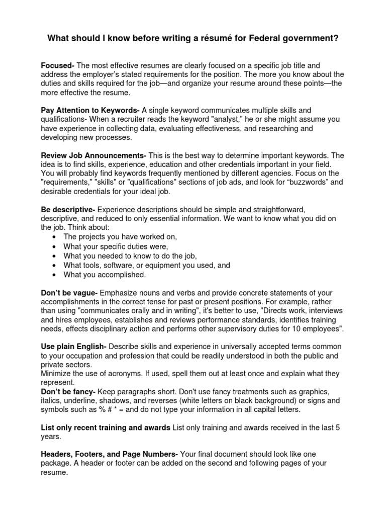 Resume Tips | Résumé | Recruitment