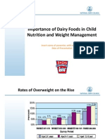 Importance of Dairy Foods in Child Nutrition and Weight Management Presentation: