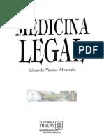 Medicina Legal, Libro de Eduardo Alvarado