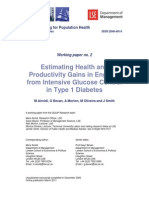 WP2 - Estimating Health and Productivity Gains From Intensive Glucose Control in T1 Diabetes