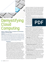 Demystifying Cloud Computing