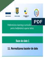 11. Normalizarea Bazelor de Date