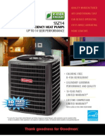 Goodman High Efficiency 14 Seer Heat Pumps SSZ-14 at Younits.com