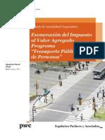 Boletín de Actualidad Corporativa N° 2 - Exoneración IVA - Programa Transporte Público