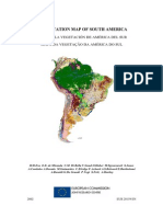 Vegetation map of South America