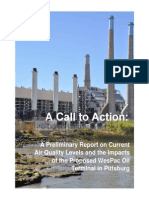Pittsburg Air Samples Report A Call to Action: A Preliminary Report on Current Air Quality Levels and the Impacts of the Proposed WesPac Oil Terminal in Pittsburg, CA