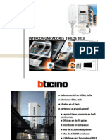 Capacitacion Intercom Bticino 2013