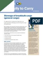 Stowage of Breakbulk Cargo