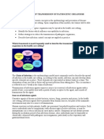 Mechanisms of Transmission of Pathogenic Organisms in the Health Care Setting and Strategies for Prevention and Control