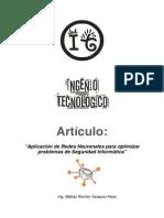 Articulo Cientifico - Aplicacion de Redes Neuronales Para Optimizar Problemas de Seguridad Informatica