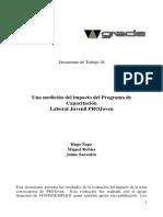 Ñopo, Saavedra y Robles - Evaluación de Projoven
