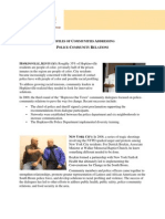 Profiles of communities addressing community-police relations