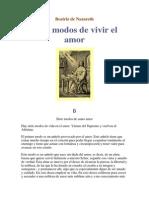As sete modalidades do amor-santa Beatriz de Nazaré