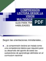 COMPRENSIÓN LECTORA DESDE LA VISIÓN MULTIDISCIPLINARIA