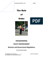 The Rule of Order Part I