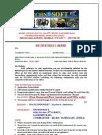 Technosoft Recruitment Order