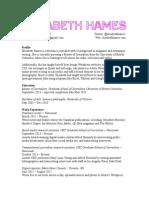 Resume - Elizabeth Hames